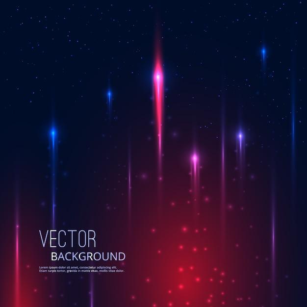 Fundo abstrato com estrelas a voar a brilhar Vetor Premium