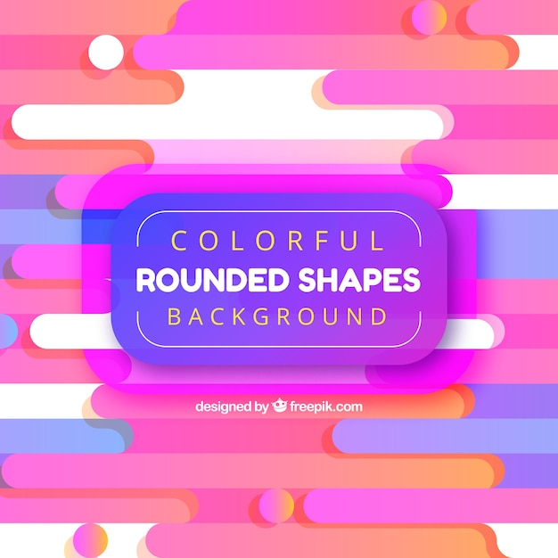 Fundo abstrato com formas arredondadas coloridas Vetor grátis