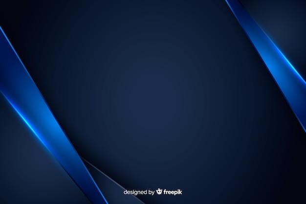 Fundo abstrato com formas metálicas azuis Vetor Premium