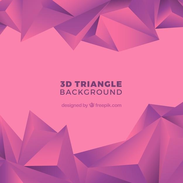 Fundo abstrato com formas triangulares Vetor grátis