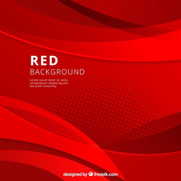Fundo abstrato com formas vermelhas Vetor Premium