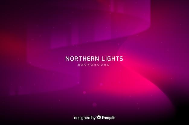 Fundo abstrato com luzes do norte Vetor grátis