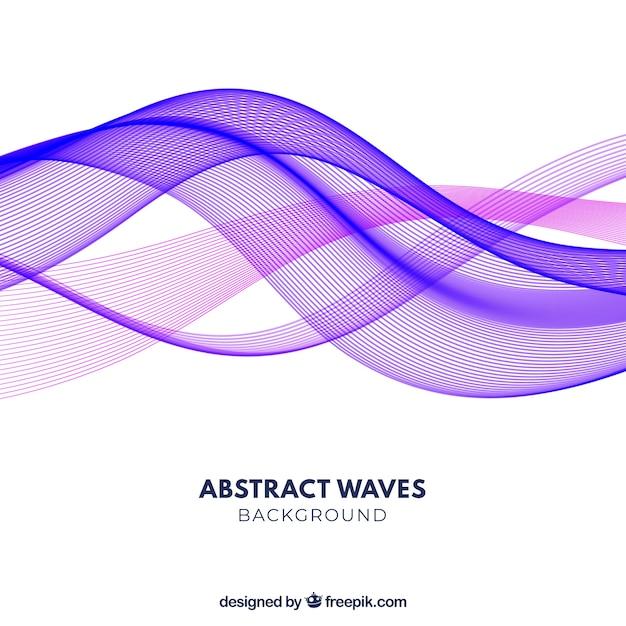 Fundo abstrato com ondas coloridas Vetor grátis