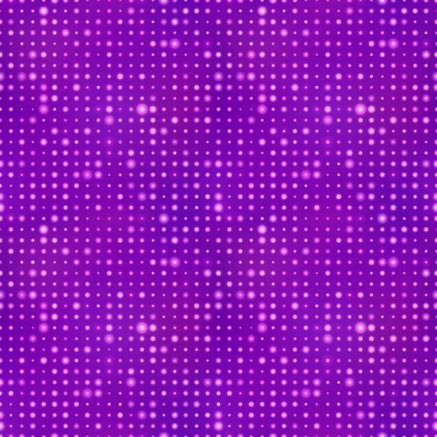 Fundo abstrato com pontos de luz no padrão roxo, sem costura Vetor Premium