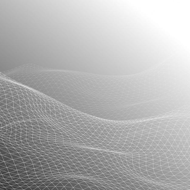 Fundo abstrato com projeto da grade de fluxo Vetor grátis