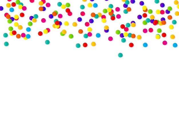 Fundo abstrato confete com confete de bolinhas. Vetor Premium