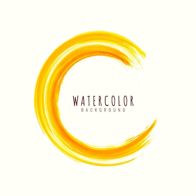 Fundo abstrato curso amarelo aquarela Vetor grátis