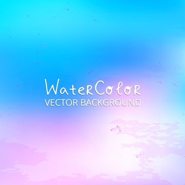 Fundo abstrato da aguarela azul e rosa Vetor grátis