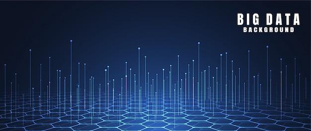 Fundo abstrato da tecnologia com dados grandes Vetor Premium