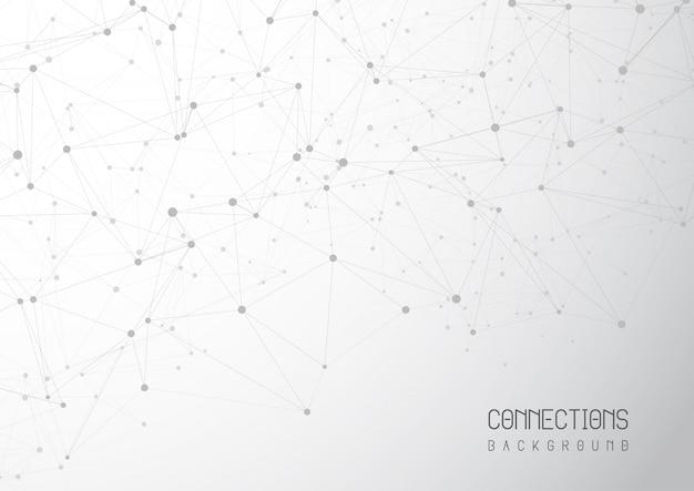 Fundo abstrato de conexões Vetor grátis