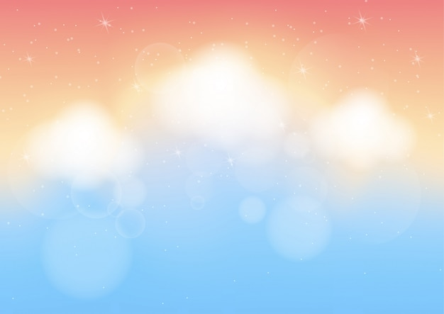 Fundo abstrato de cor pastel com bokeh Vetor Premium
