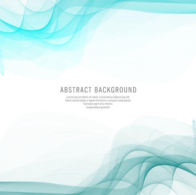 Fundo abstrato de design de onda azul Vetor grátis