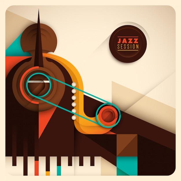 Fundo abstrato de jazz Vetor Premium