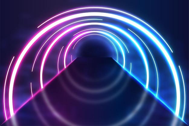 Fundo abstrato de luzes de néon Vetor grátis