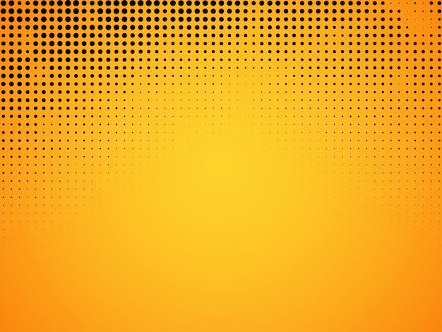 Fundo abstrato de meio-tom amarelo Vetor grátis