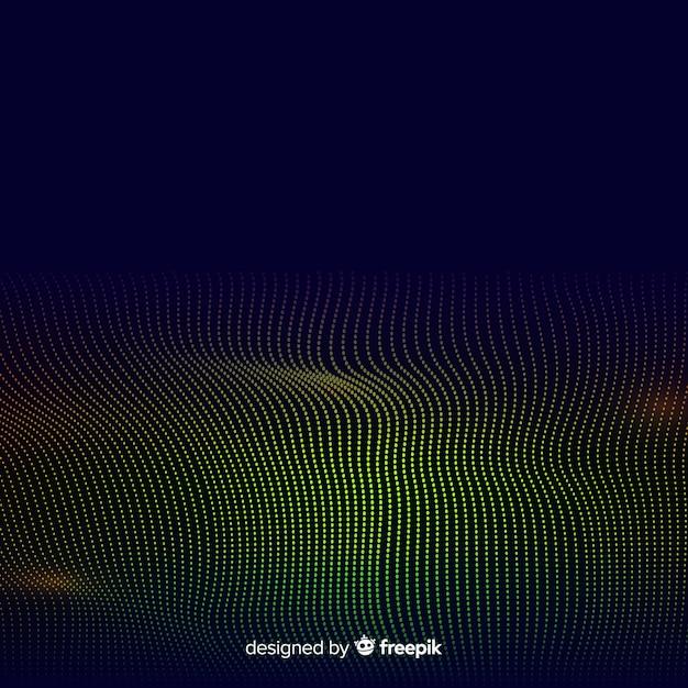 Fundo abstrato de ondas de partículas de equalizador Vetor grátis