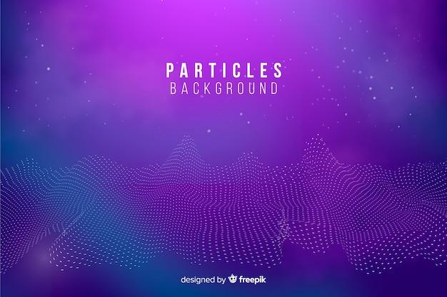 Fundo abstrato de partículas de equalizador Vetor grátis