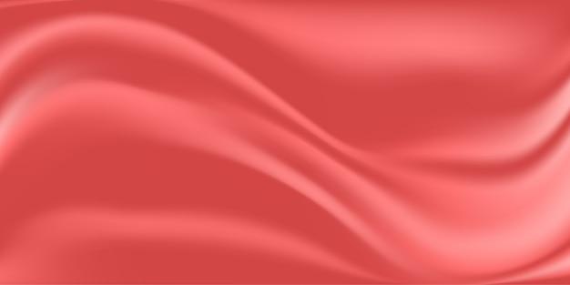 Fundo abstrato de tecido de seda rosa Vetor Premium