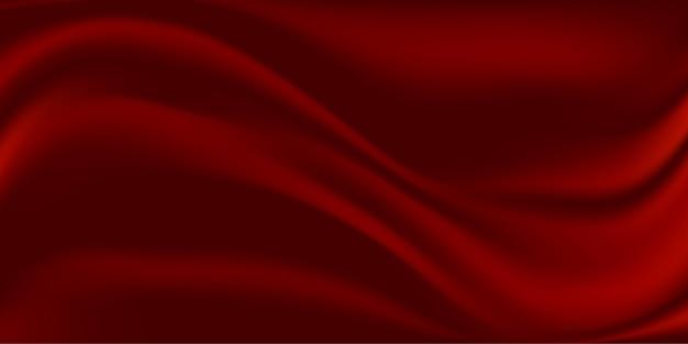 Fundo abstrato de tecido de seda vermelha Vetor Premium