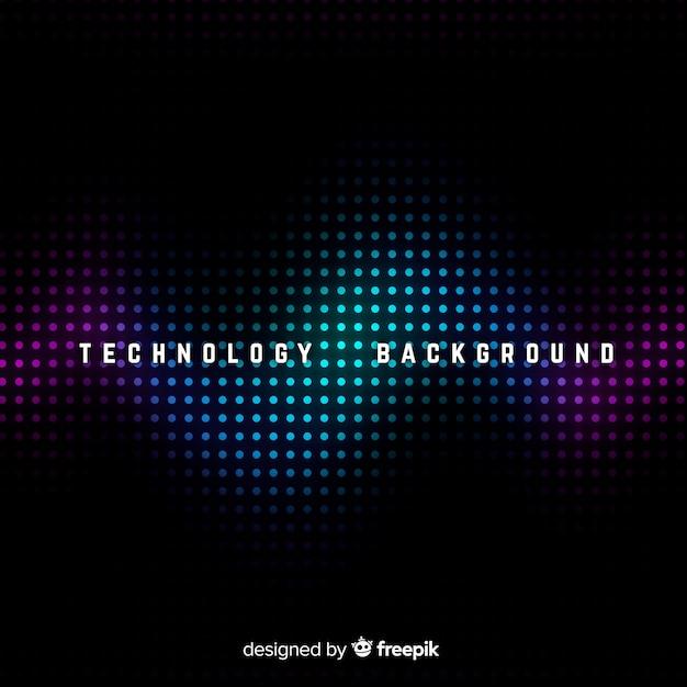Fundo abstrato de tecnologia escura Vetor grátis