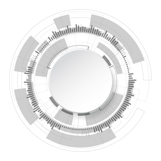 Fundo abstrato de tecnologia Vetor Premium