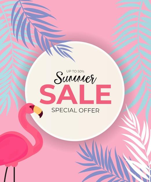 Fundo abstrato de venda de verão. ilustração Vetor Premium