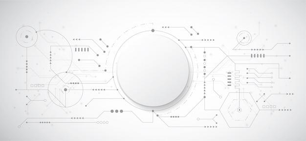 Fundo abstrato design 3d com tecnologia ponto e linha Vetor Premium