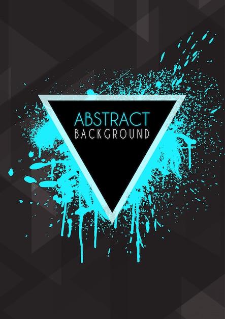 Fundo abstrato design com splatter grunge Vetor grátis