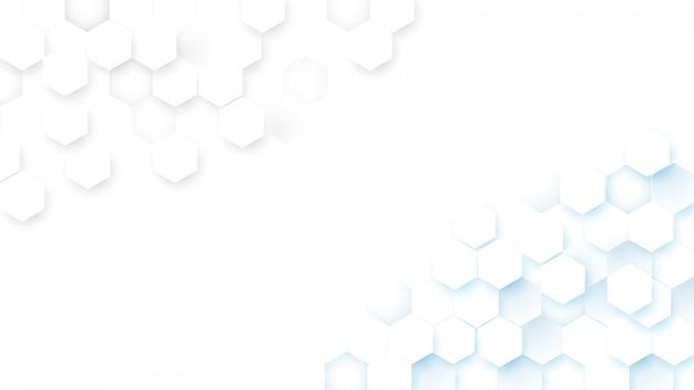 Fundo abstrato digital do conceito dos hexágonos da tecnologia da tecnologia olá! Vetor Premium