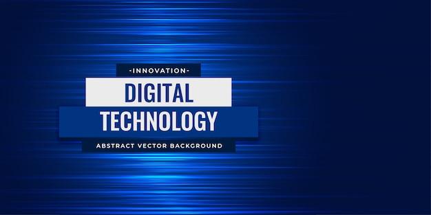 Fundo abstrato digital linhas azuis Vetor grátis