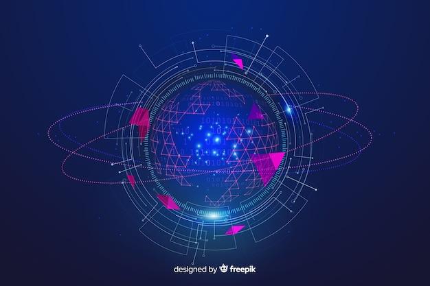 Fundo abstrato do conceito de grande volume de dados Vetor grátis