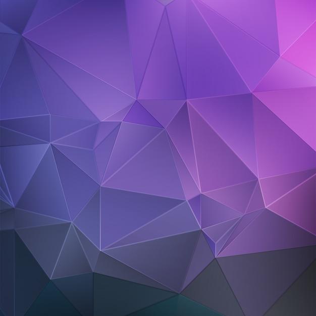 Fundo abstrato do cristal roxo Vetor Premium