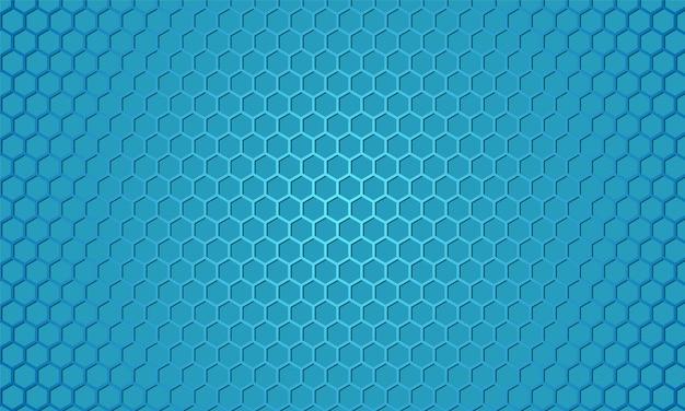 Fundo abstrato do favo de mel com fibra de carbono azul. Vetor Premium