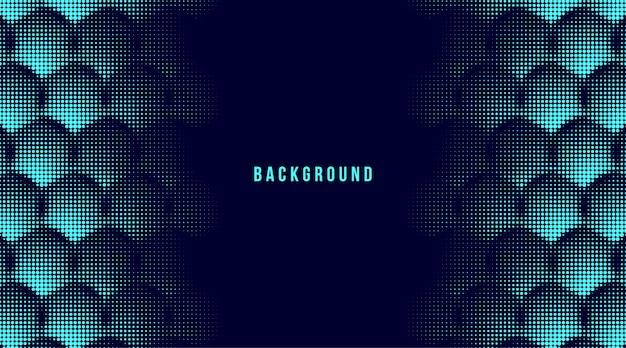 Fundo abstrato do hexágono de meio-tom Vetor Premium