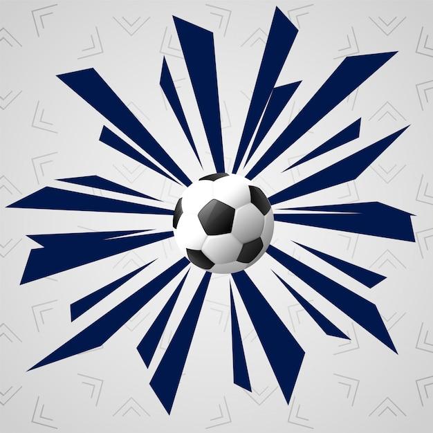 Fundo abstrato do jogo dos esportes do futebol Vetor grátis