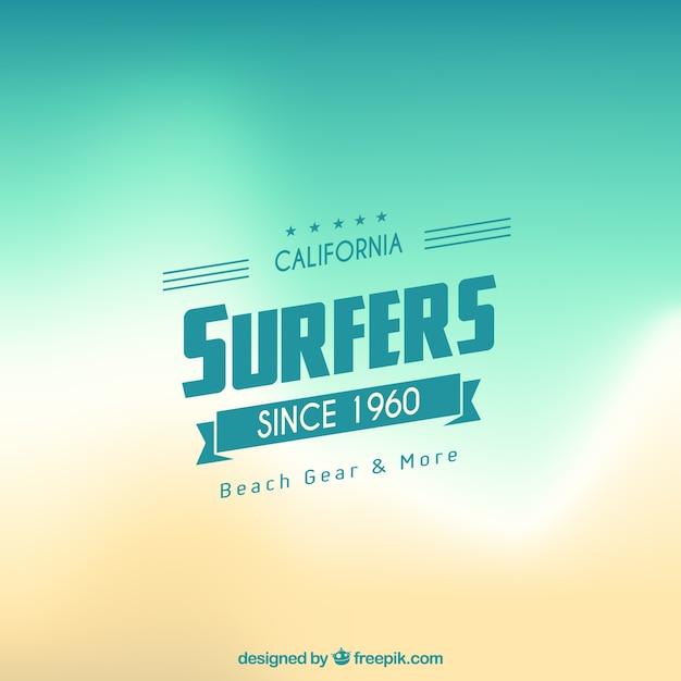 Fundo abstrato do surfista Vetor grátis