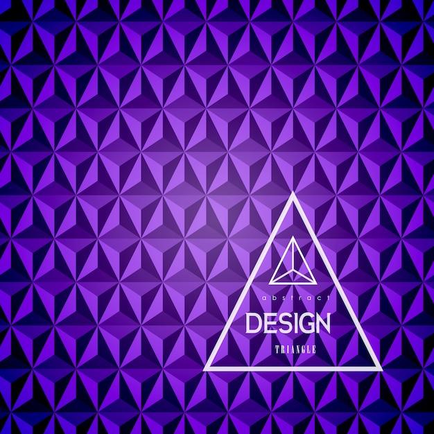 Fundo abstrato do triângulo 3d. Vetor Premium