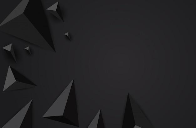 Fundo abstrato do triângulo. Vetor Premium