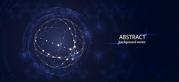 Fundo abstrato do vetor da tecnologia para o negócio, ciência, projeto da tecnologia. Vetor Premium
