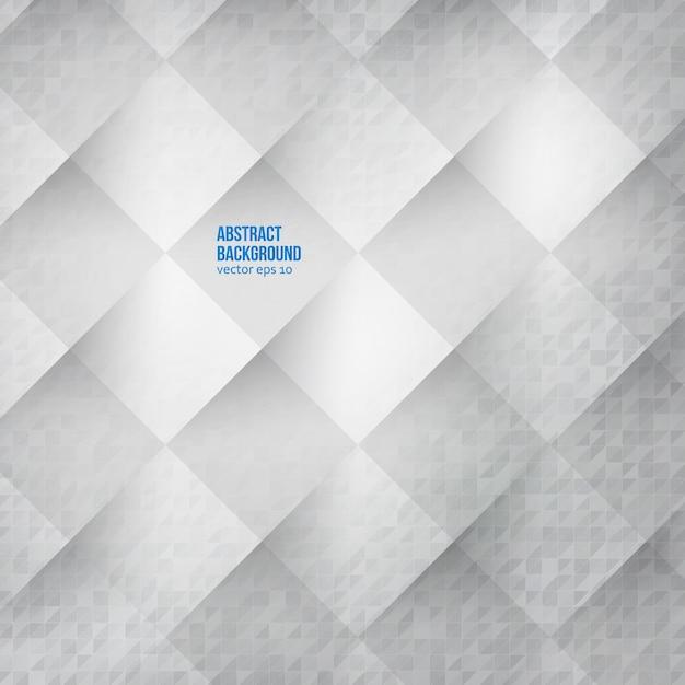 Fundo abstrato do vetor. quadrados brancos Vetor grátis