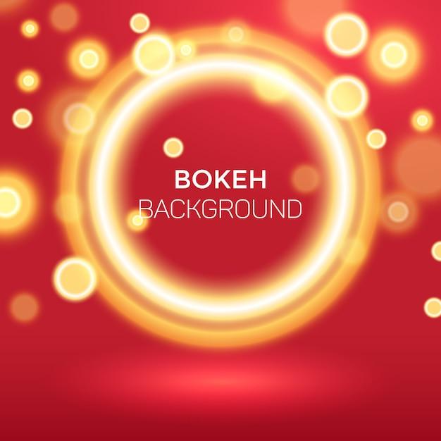 Fundo abstrato dourado anel bokeh Vetor Premium