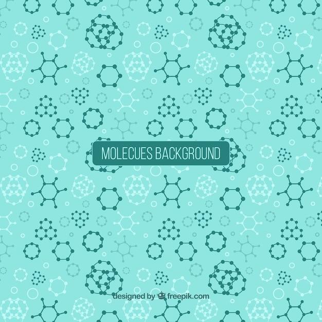 Fundo abstrato e geométrico de moléculas Vetor grátis