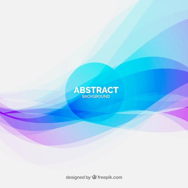 Fundo abstrato elegante com ondas coloridas Vetor grátis
