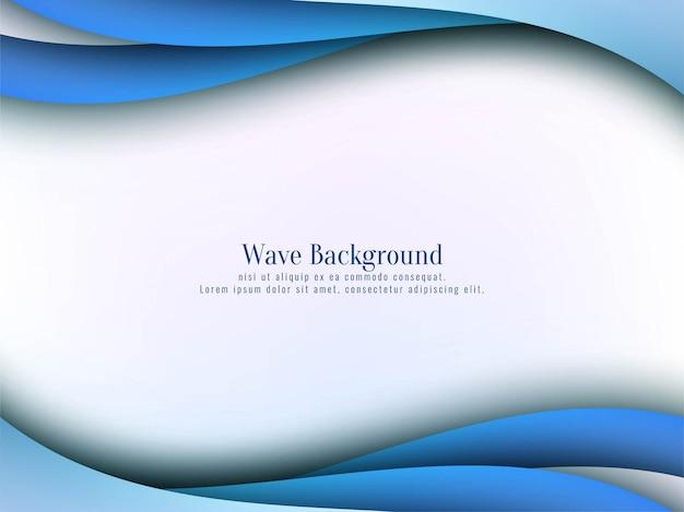 Fundo abstrato elegante onda azul Vetor grátis