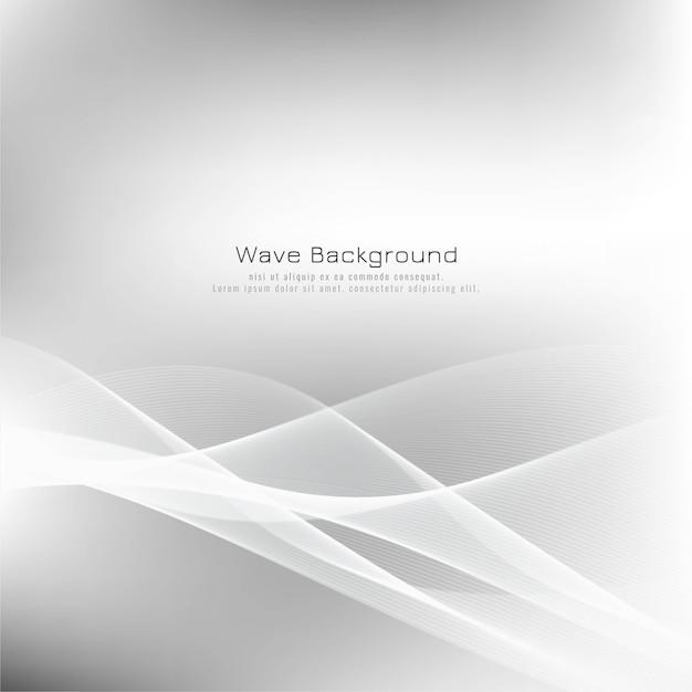 Fundo abstrato elegante onda cinza Vetor grátis