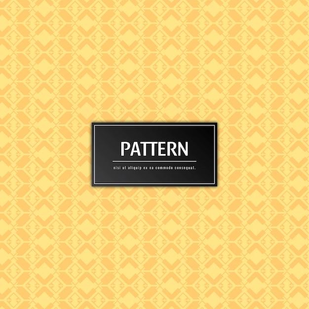Fundo abstrato elegante padrão amarelo Vetor grátis
