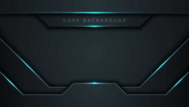 Fundo abstrato escuro com camadas de sobreposição Vetor Premium