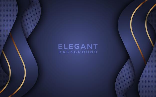 Fundo abstrato escuro com camadas e brilhos da sobreposição. textura com decoração de elemento de efeito dourado Vetor Premium