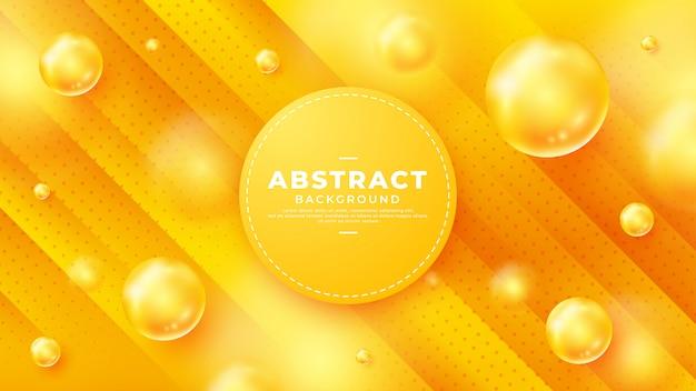 Fundo abstrato esferas com linhas de gradientes diagonais. Vetor Premium