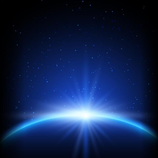 Fundo abstrato espaço com planeta Vetor grátis